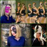 Black Lace half masks (adhe..